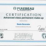 Permanent Makup Advanced Class certification
