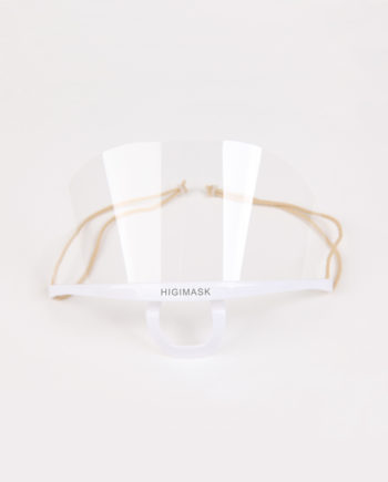 Transparent sanitary face mask developed by Higimask is new innovative product for use in beauty and medical offices.