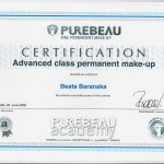 Permanent Makup Advanced Class certification