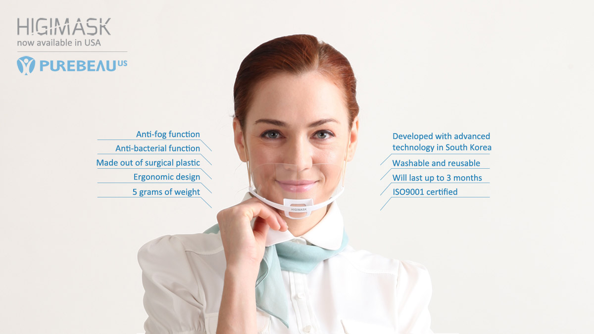 Higimask banner highlighting features